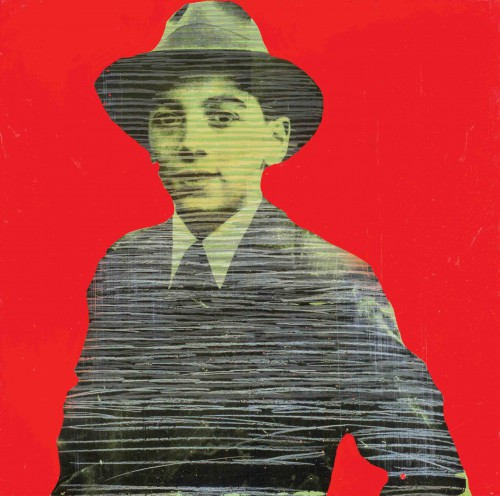 Paul Édouard Bourque - Mikey, 1978, Sérigraphie et techniques mixtes sur masonite, 60 x 60 cm